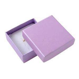 Dárková krabička na soupravu šperků - perleťově fialová