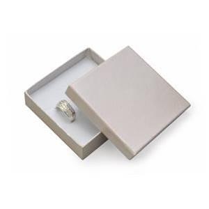 Dárková krabička na soupravu šperků - stříbřitě šedá