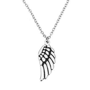 Ocelový řetízek s přívěškem - andělské křídlo OPD0074