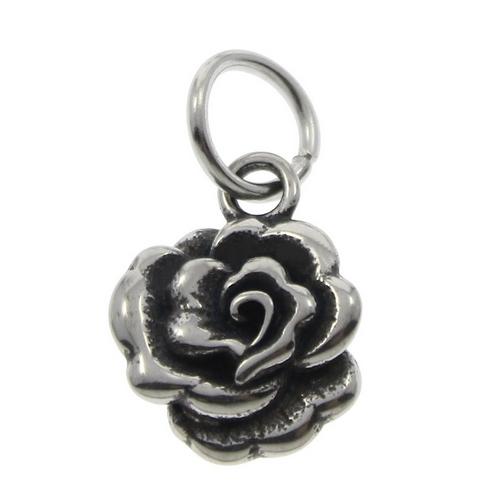 Drobný oceľový prívesok ružička