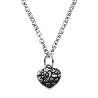 Šperky4U Ocelový řetízek s drobným srdíčkem - OPD0078