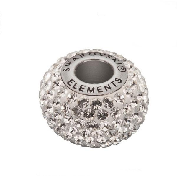 Navlékací přívěšek korálek s krystaly Swarovski®, Crystal