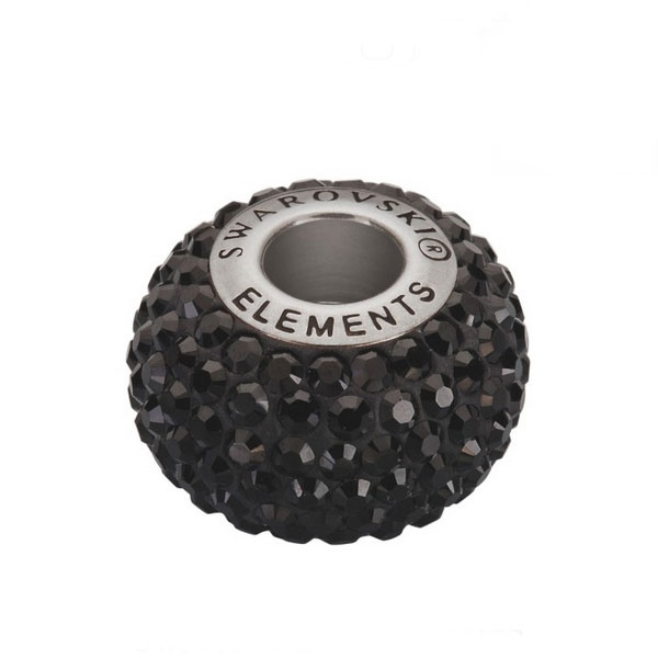Prívesok BeCharmed Pavé s kryštálmi Swarovski ®, Black Jet