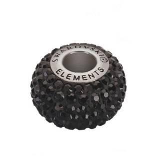 Navlékací přívěšek korálek s krystaly Swarovski®, Black Jet