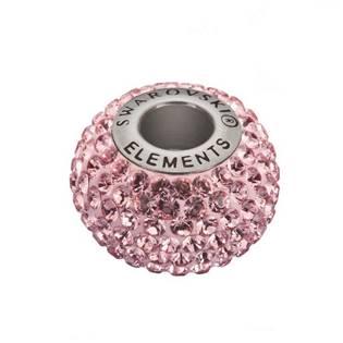 Navlékací přívěšek korálek s krystaly Swarovski®, Rose