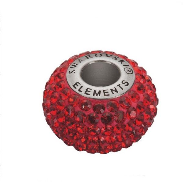 Navlékací přívěšek korálek s krystaly Swarovski®, Indian Siam
