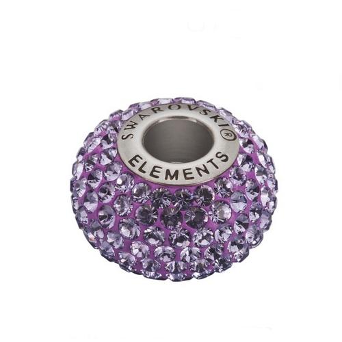 Navlékací přívěšek korálek s krystaly Swarovski®, Tanzanite