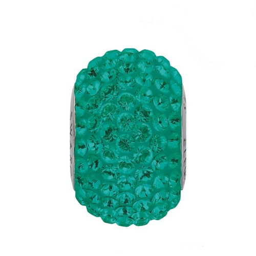 Prívesok BeCharmed Pavé s kryštálmi Swarovski ®, Emerald