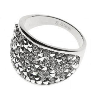 Ocelový prsten s krystaly Crystals from Swarovski®, CRYSTAL CAL LV1001-CAL