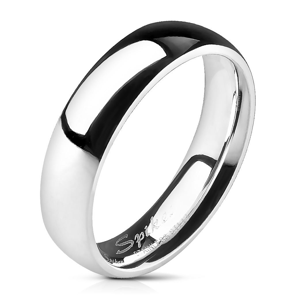 Oceľový prsteň lesklý, šírka 5 mm