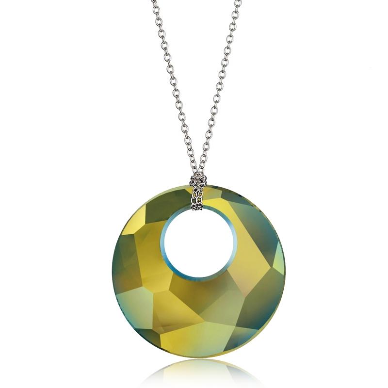 Náhrdelník Crystals SWAROVSKI®, IRIDESCENT GREEN