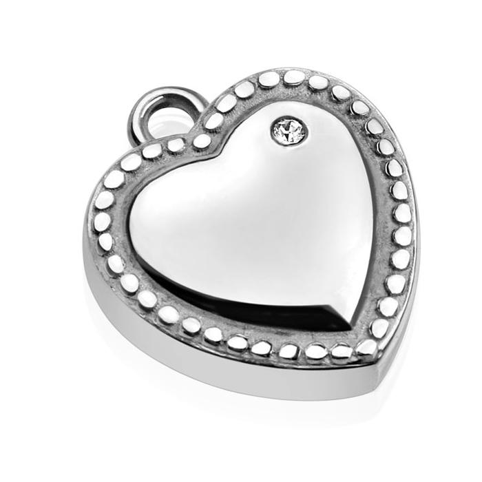 Drobný oceľový prívesok - srdce