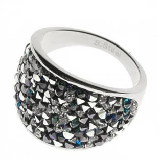 Ocelový prsten s krystaly Swarovski®, BERMUDA BLUE PEPPER LV1001-BPE