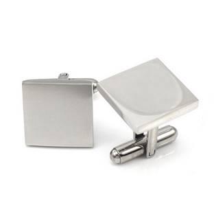 Ocelové manžetové knoflíčky - čtverce