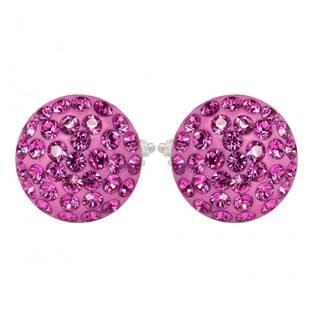 Stříbrné náušnice s krystaly Crystals from Swarovski®, ROSE
