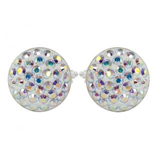 Stříbrné náušnice s krystaly Crystals from Swarovski®, CRYSTAL AB
