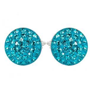 Stříbrné náušnice s krystaly Crystals from Swarovski®, BLUE ZIRCON