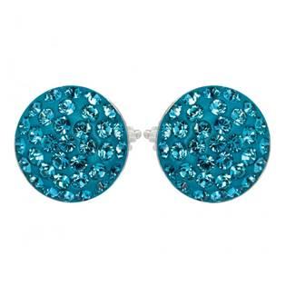 Stříbrné náušnice s krystaly Crystals from Swarovski®, INDICOLITE