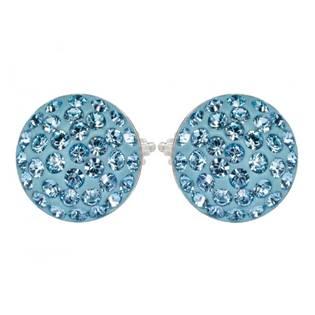 Stříbrné náušnice s krystaly Crystals from Swarovski®, AQUAMARINE
