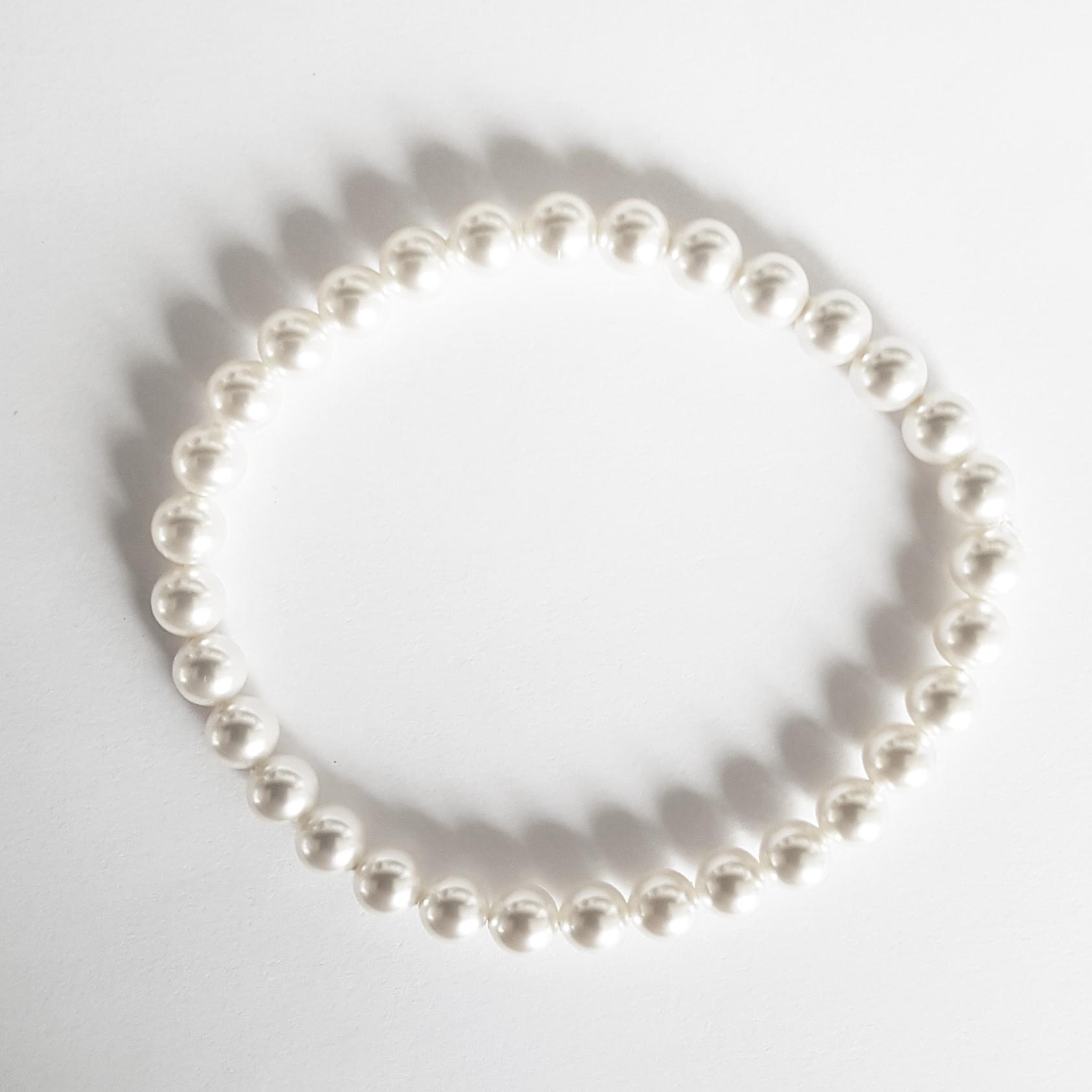 Perlový náramok s 6 mm perlami Swarovski ®