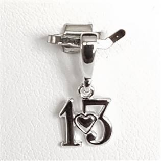 Stříbrný přívěšek číslovka 13