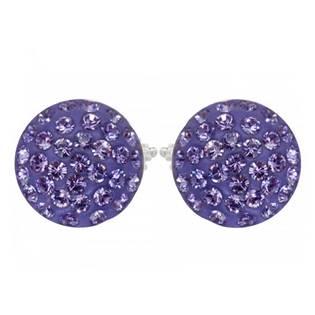 Stříbrné náušnice s krystaly Crystals from Swarovski®, TANZANITE