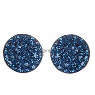 Stříbrné náušnice s krystaly Crystals from Swarovski®, MONTANA BLUE