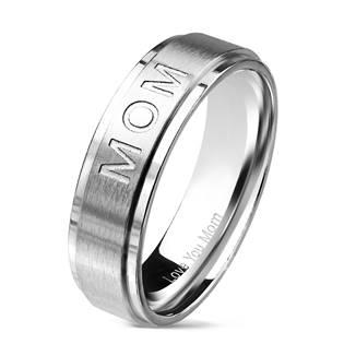 """Matný ocelový prsten """"MOM"""""""