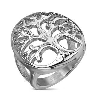Ocelový prsten strom života OPR1724