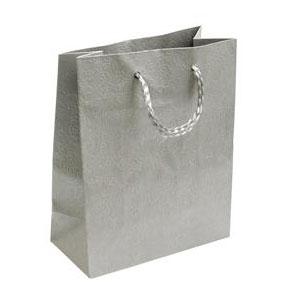 Darčeková taška strieborná s kvetinovým dekorom