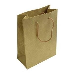 Šperky4U Dárková taška zlatá s květinovým dekorem - KR1012-GD