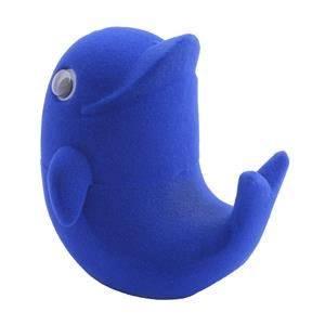 Dárková krabička semiš - delfín tmavě modrý