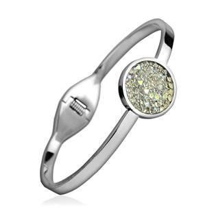 Ocelový náramek s krystaly Crystals from Swarovski® CRYSTAL AB