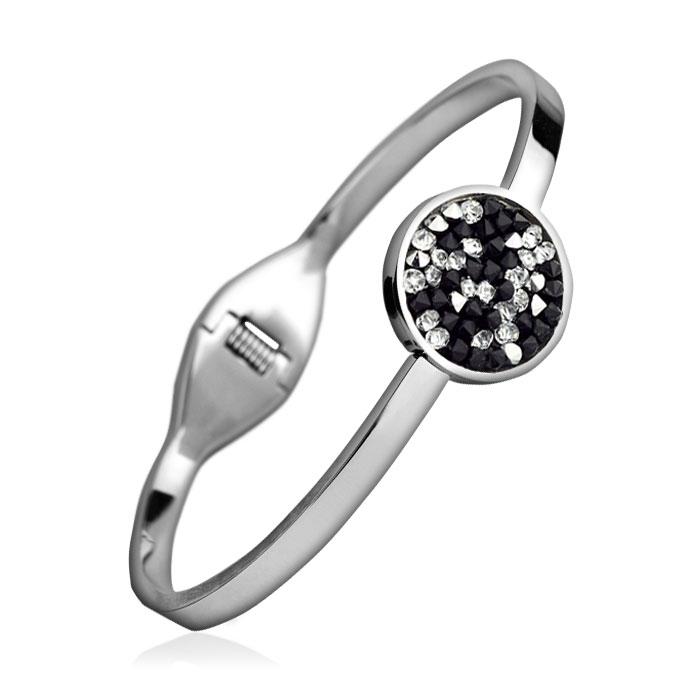 Oceľový náramok s kryštálmi Crystals from Swarovski ® PEPPER