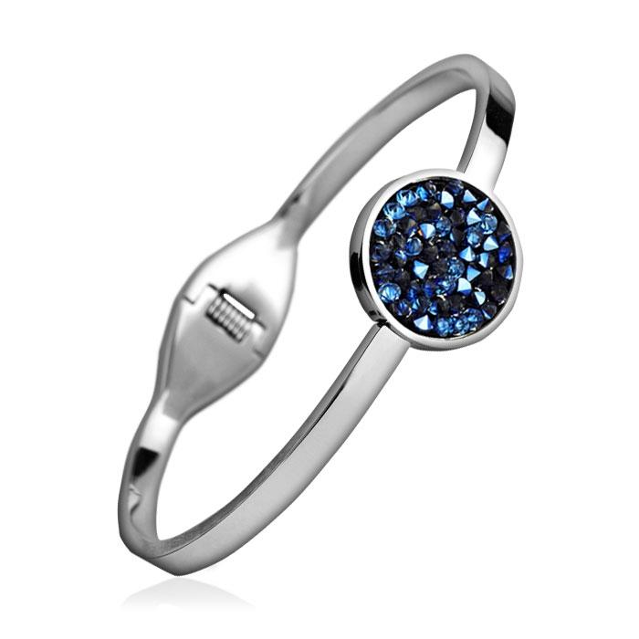 Oceľový náramok s kryštálmi Crystals from Swarovski ® BLUELIZED