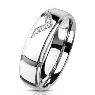 OPR0096 Ocelový prsten se zirkony