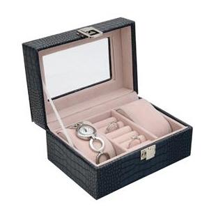 Šperkovnice na hodinky a šperky modrá SVK1141-B