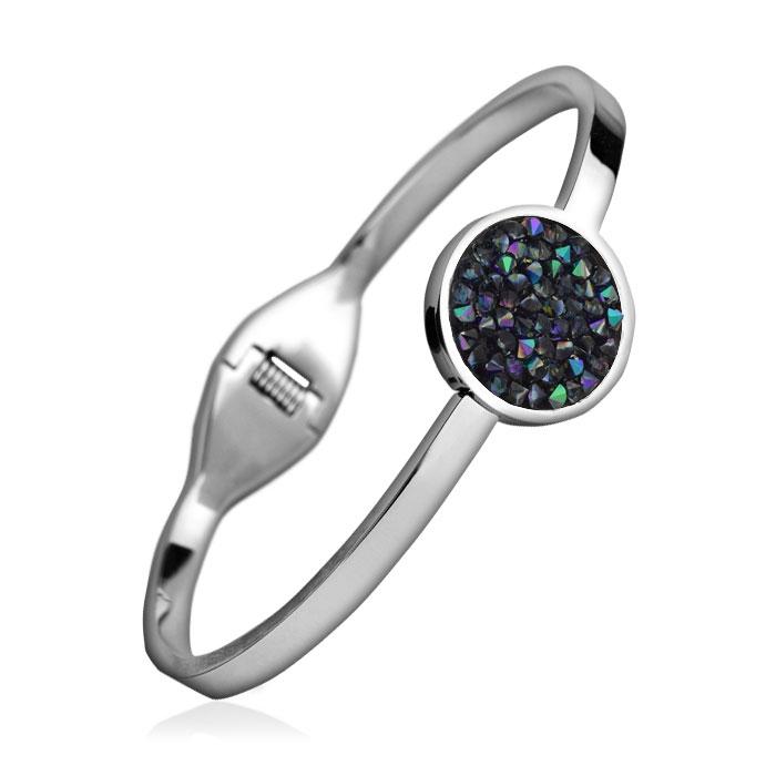Oceľový náramok s kryštálmi Crystals from Swarovski ® PARADISE SHINE