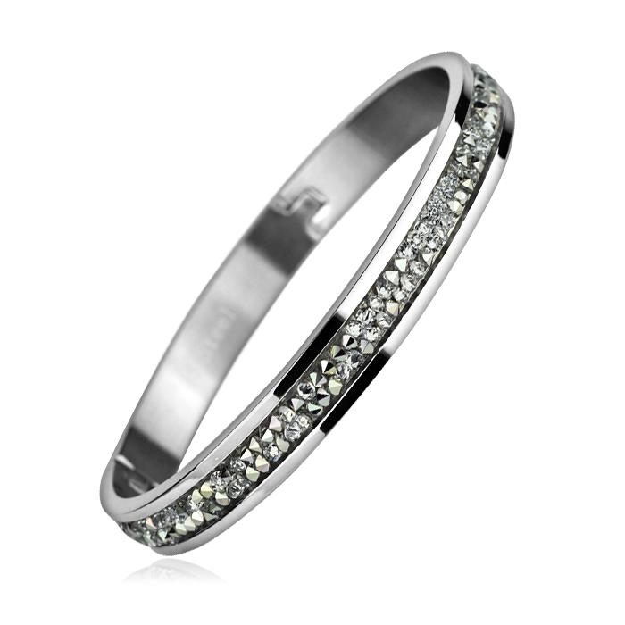 Oceľový náramok s kryštálmi Crystals from Swarovski ® CRYSTAL CAL