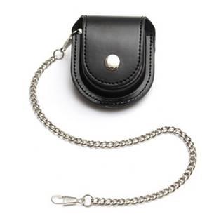 Kapsička na kapesní hodinky černá na patent