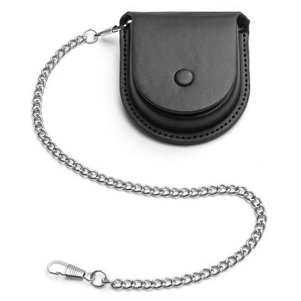 Kapsička na vreckové hodinky čierna na patent