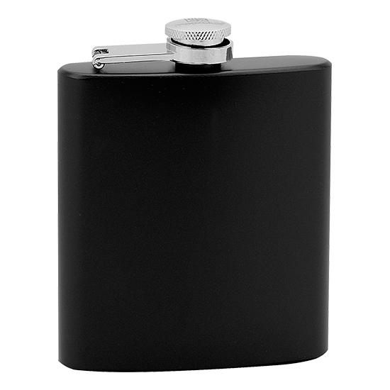 Čierna oceľová vrecková fľaša - ploskačka 175 ml