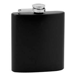 Černá ocelová kapesní lahev - placatka 175 ml