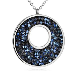 NUBIS® Ocelový náhrdelník s krystaly Crystals from Swarovski®, BERMUDA BLUE - LV5001-BB