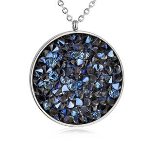 NUBIS® Ocelový náhrdelník s krystaly Crystals from Swarovski®, BERMUDA BLUE - LV5002-BB