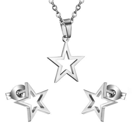 Set šperkov z chirurgickej ocele, hviezdičky