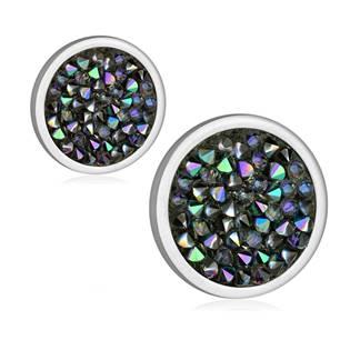 Ocelové náušnice s krystaly Crystals from Swarovski®, PARADISE SHINE