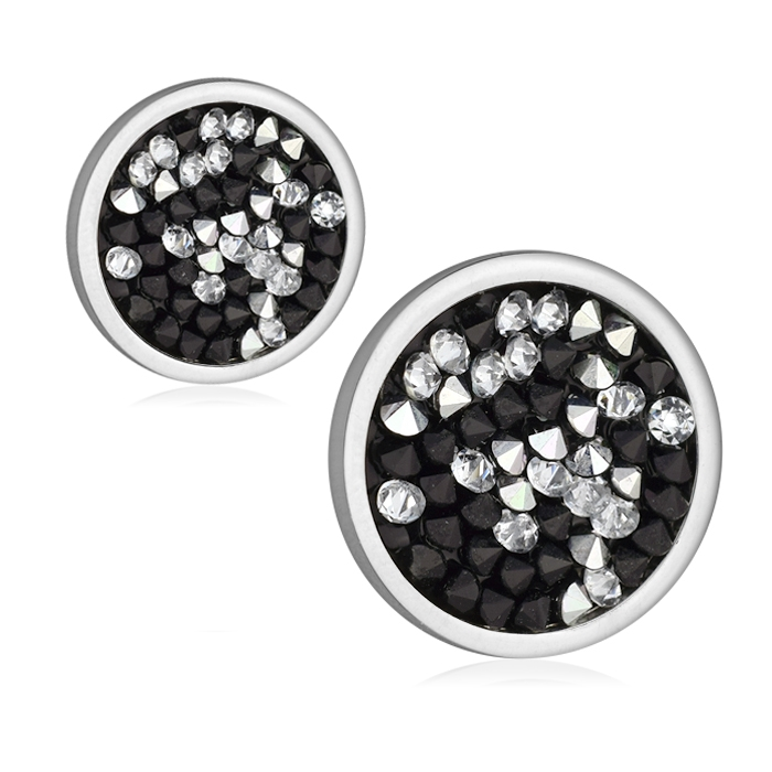 Ocelové náušnice s krystaly Crystals from Swarovski® CAL PEPPER LV6002-PEP