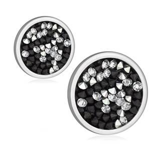 Ocelové náušnice s krystaly Crystals from Swarovski® CAL PEPPER