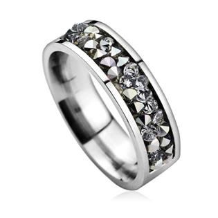 Ocelový prsten s krystaly Crystals from Swarovski®, CRYSTAL CAL LV1004-CAL